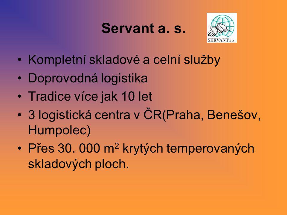 Servant a. s. Kompletní skladové a celní služby Doprovodná logistika