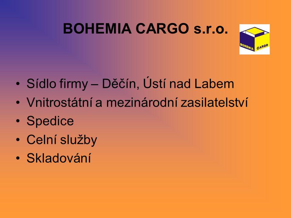 BOHEMIA CARGO s.r.o. Sídlo firmy – Děčín, Ústí nad Labem