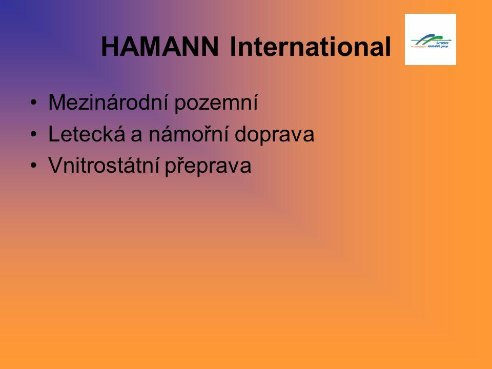 HAMANN International Mezinárodní pozemní Letecká a námořní doprava