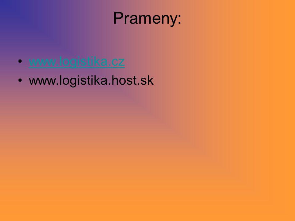 Prameny: www.logistika.cz www.logistika.host.sk