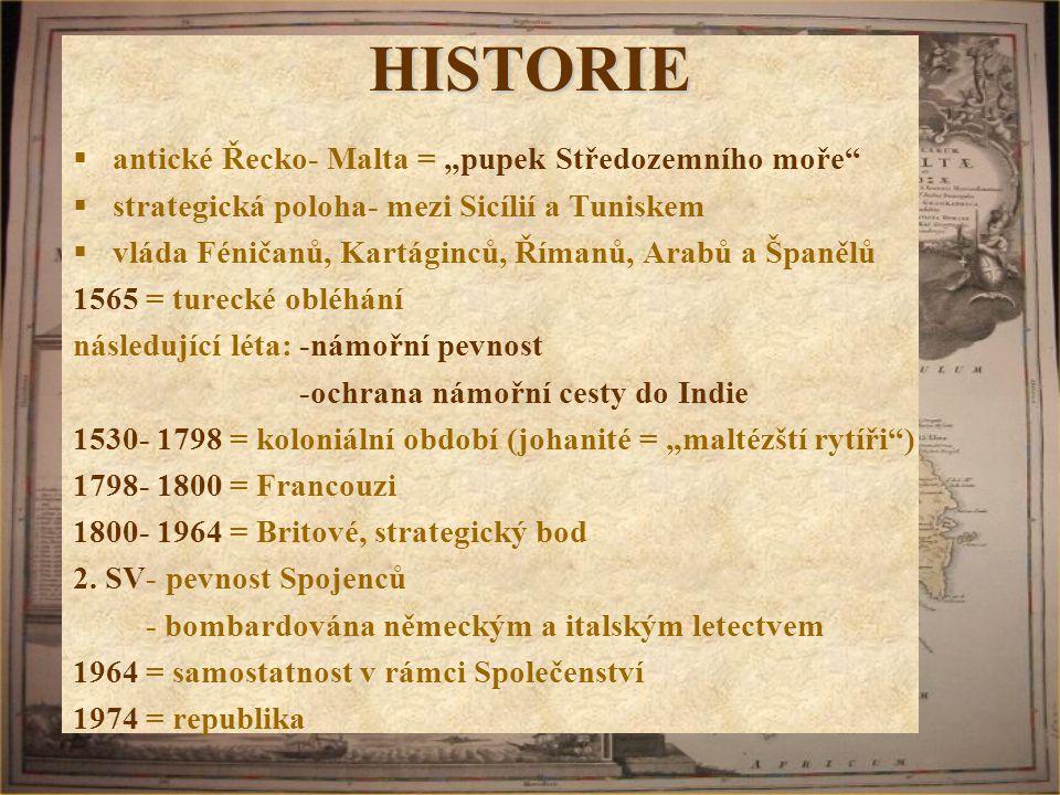 """HISTORIE antické Řecko- Malta = """"pupek Středozemního moře"""
