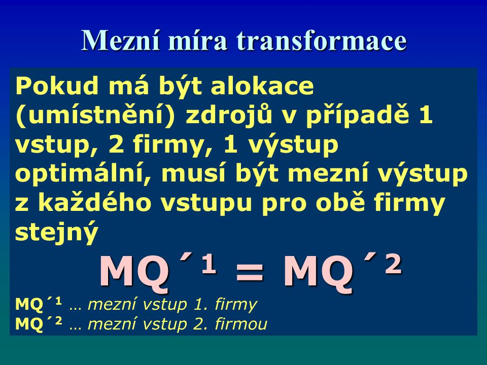 Mezní míra transformace