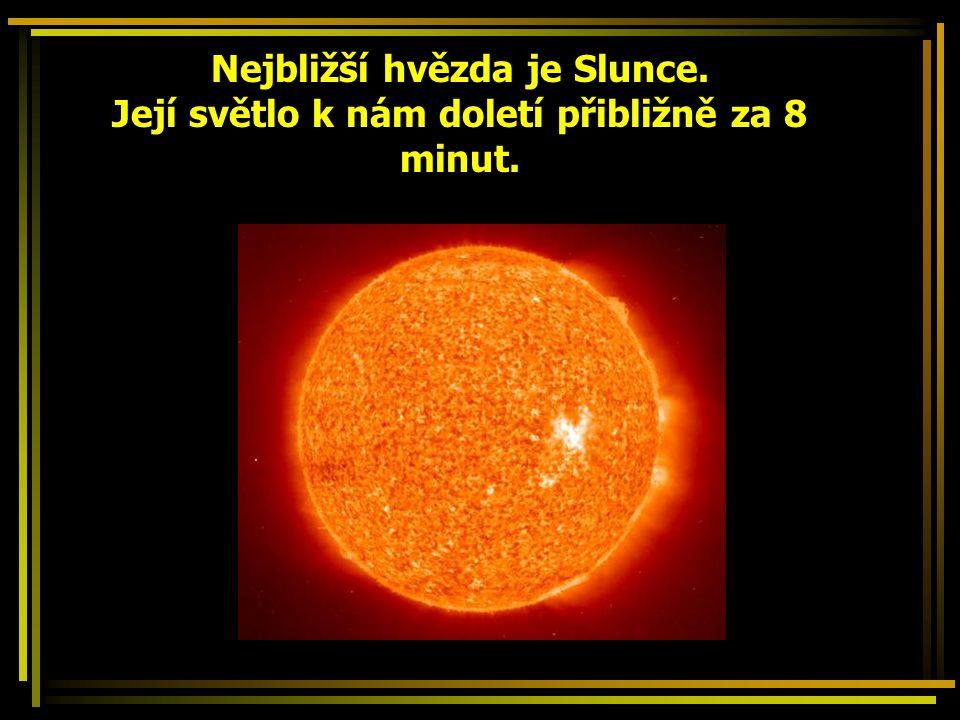 Nejbližší hvězda je Slunce