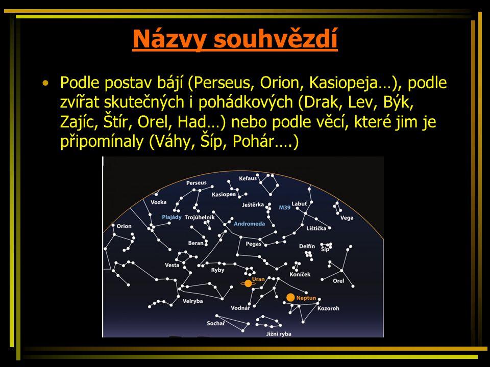 Názvy souhvězdí