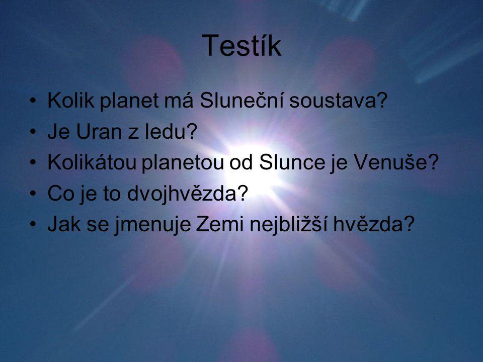 Testík Kolik planet má Sluneční soustava Je Uran z ledu
