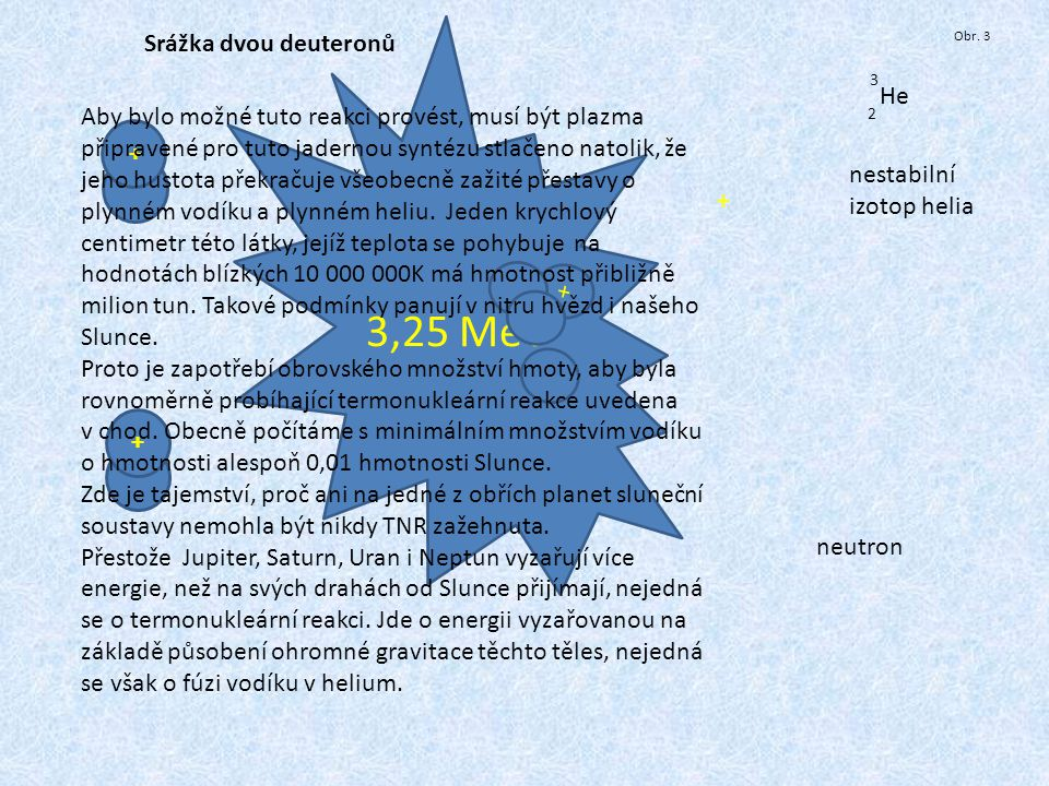 3,25 MeV Srážka dvou deuteronů He