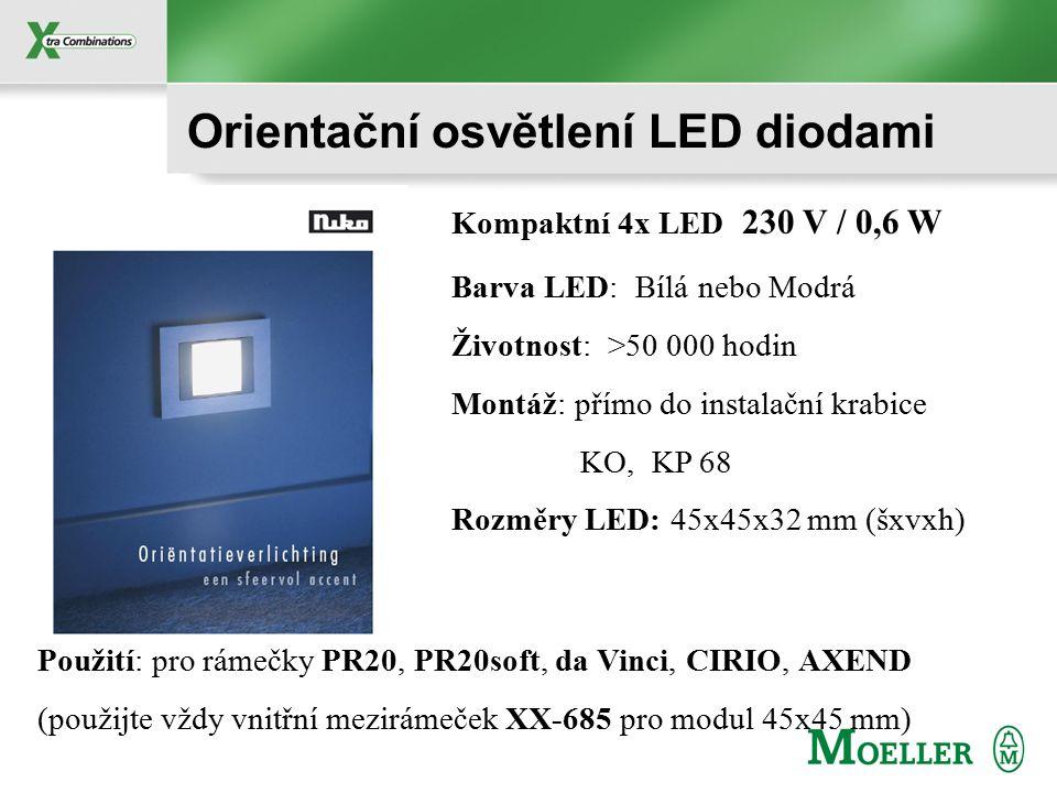 Orientační osvětlení LED diodami