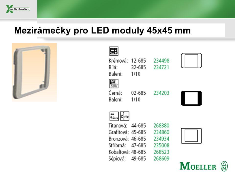Mezirámečky pro LED moduly 45x45 mm