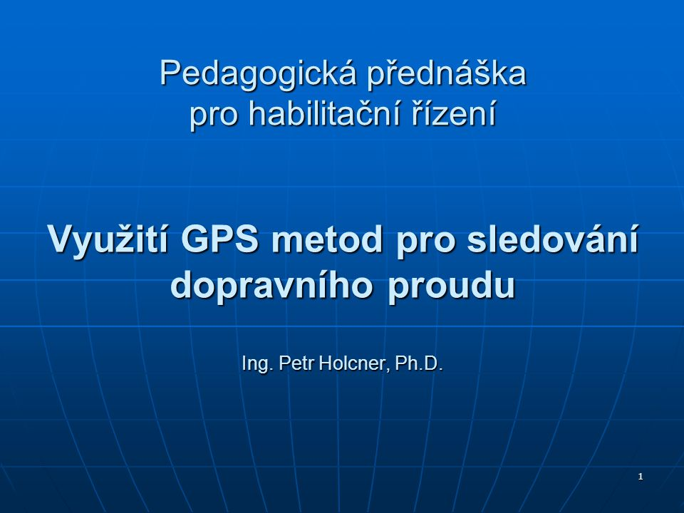 Pedagogická přednáška pro habilitační řízení