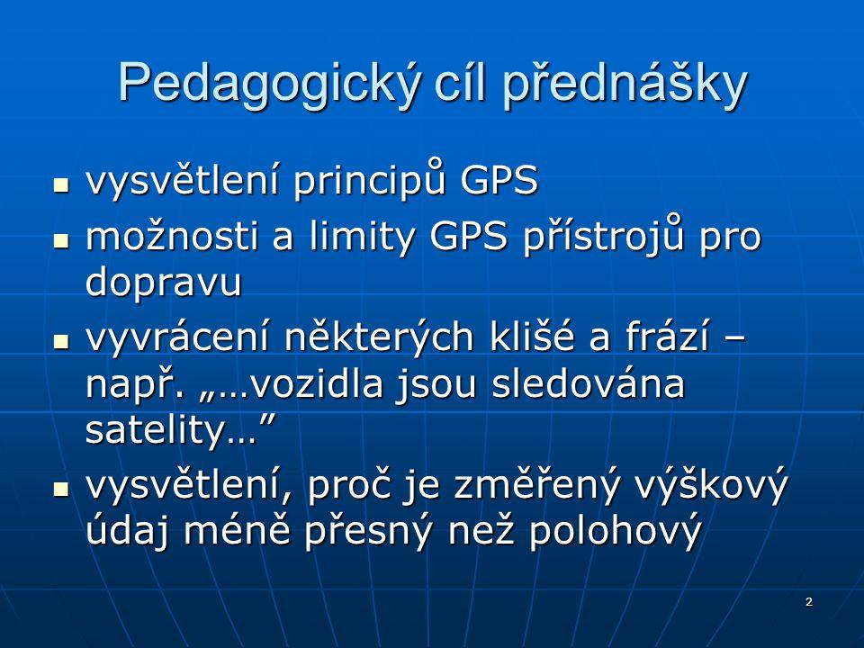 Pedagogický cíl přednášky