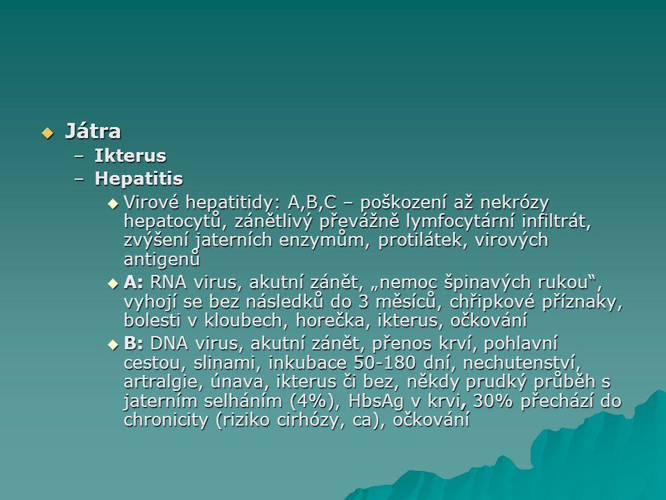 Játra Ikterus Hepatitis