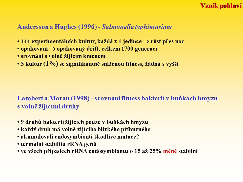 Andersson a Hughes (1996) - Salmonella typhimurium