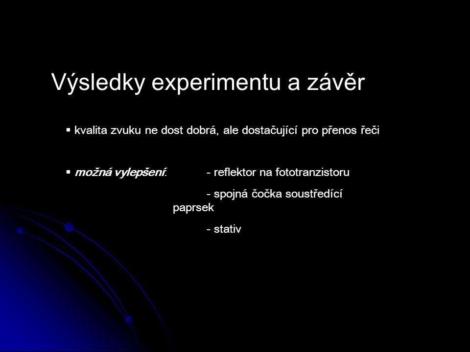 Výsledky experimentu a závěr