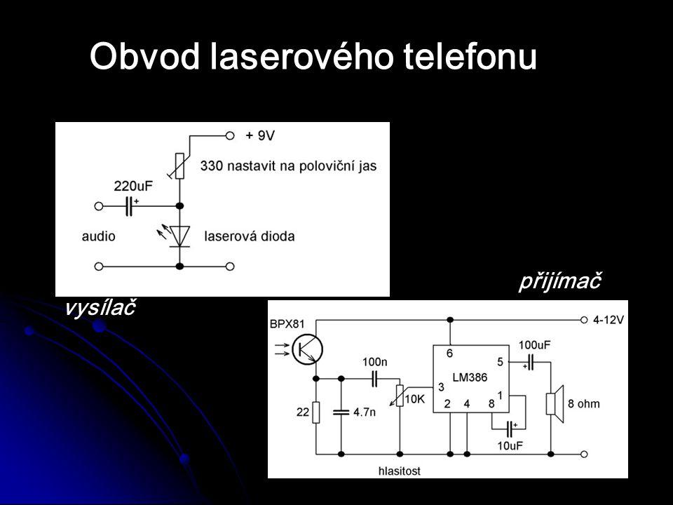 Obvod laserového telefonu