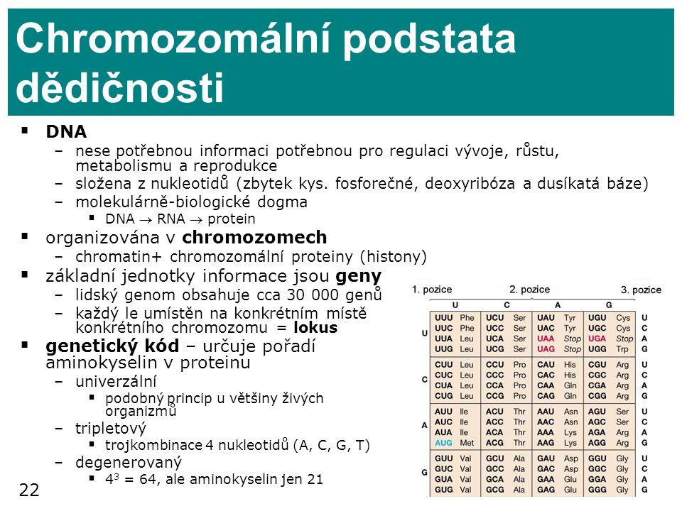 Chromozomální podstata dědičnosti