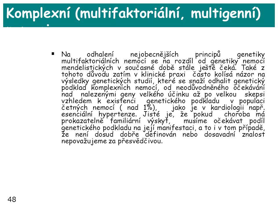 Komplexní (multifaktoriální, multigenní) nemoci