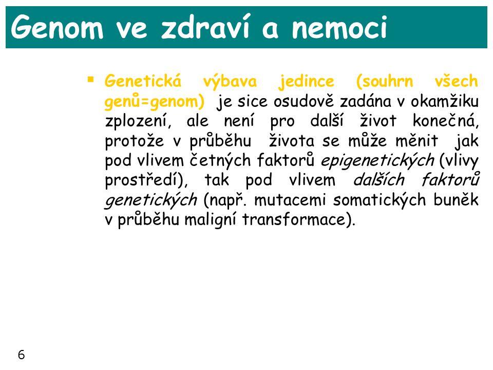 Genom ve zdraví a nemoci