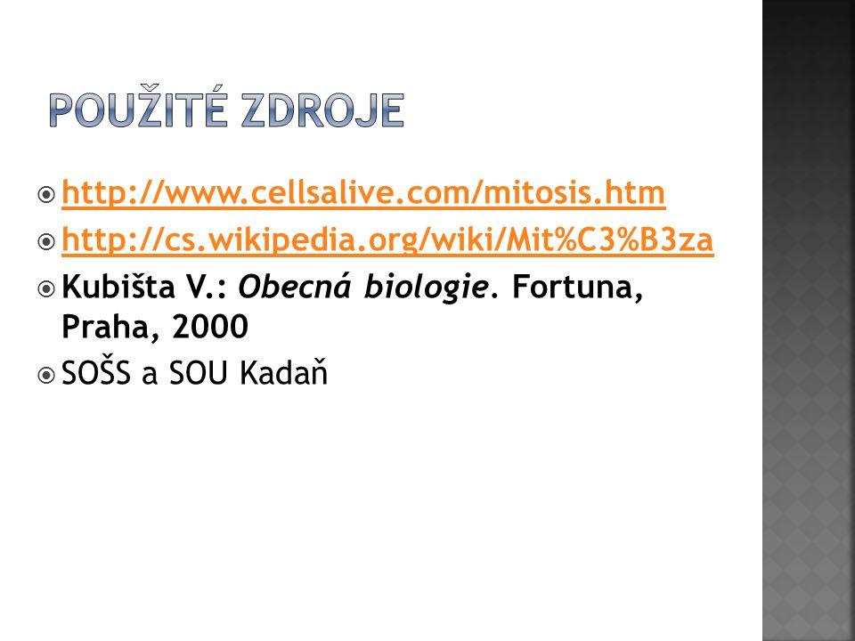 Použité zdroje http://www.cellsalive.com/mitosis.htm