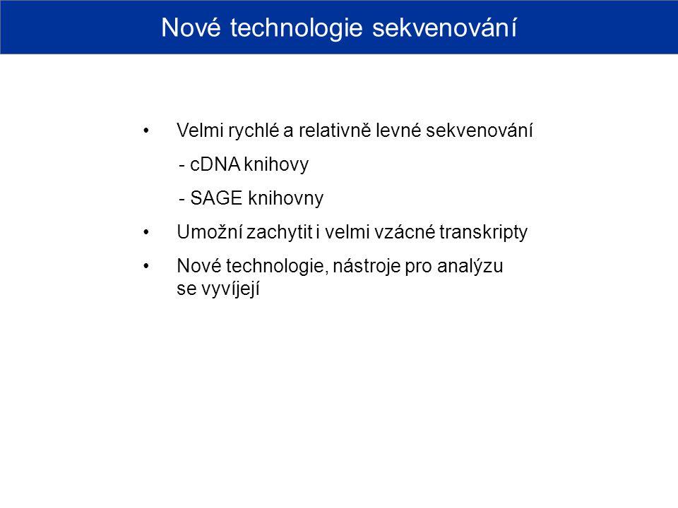 Nové technologie sekvenování