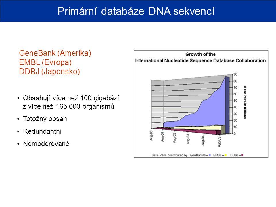 Primární databáze DNA sekvencí