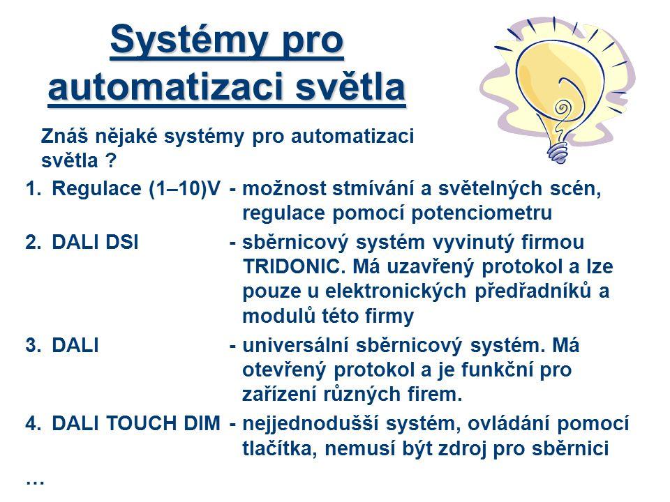 Systémy pro automatizaci světla