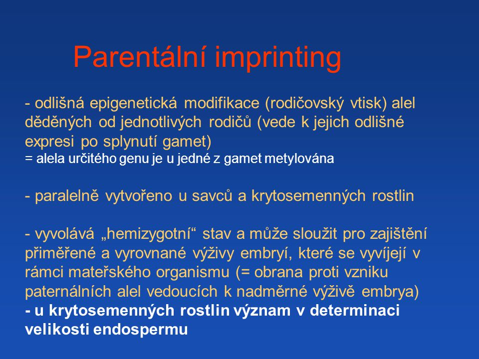 Parentální imprinting