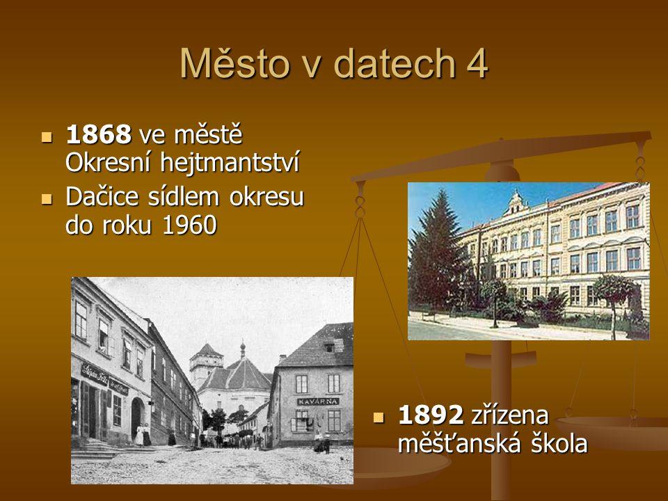 Město v datech 4 1868 ve městě Okresní hejtmantství