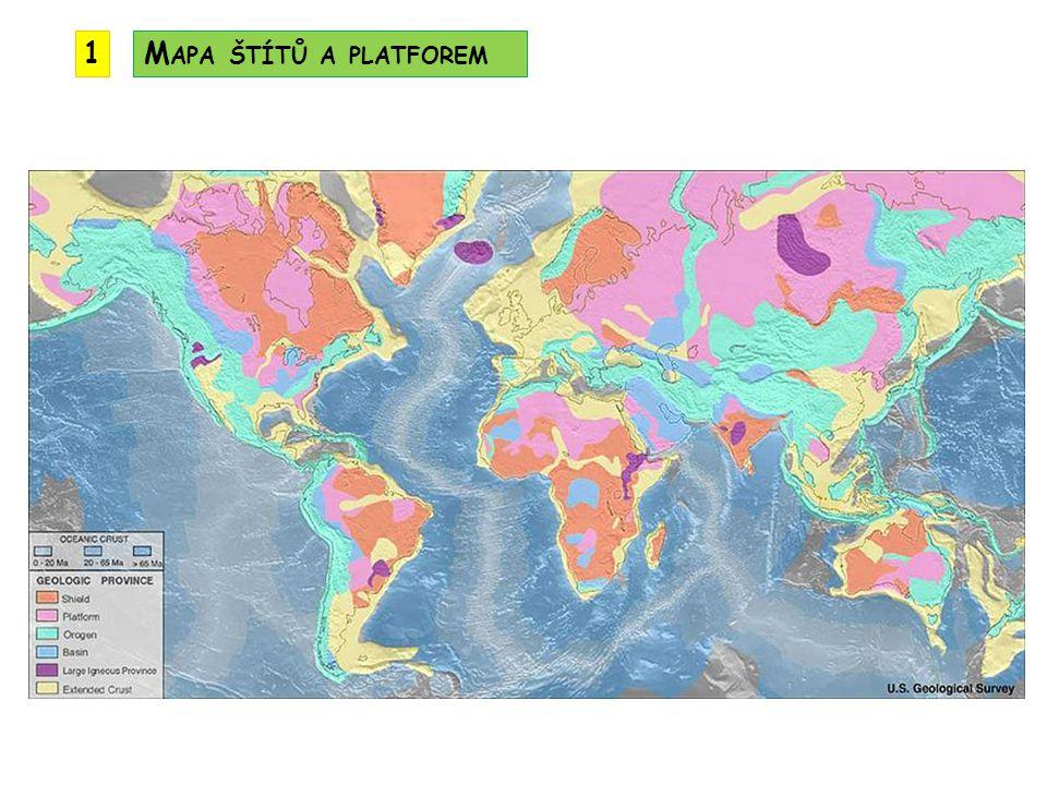 1 Mapa štítů a platforem