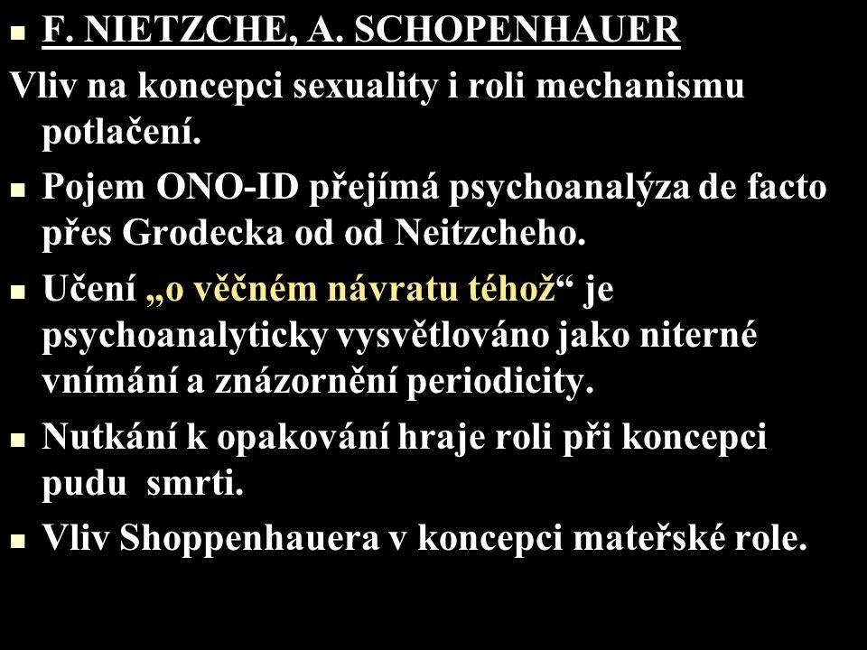 F. NIETZCHE, A. SCHOPENHAUER