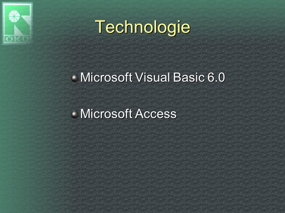 Technologie Microsoft Visual Basic 6.0 Microsoft Access
