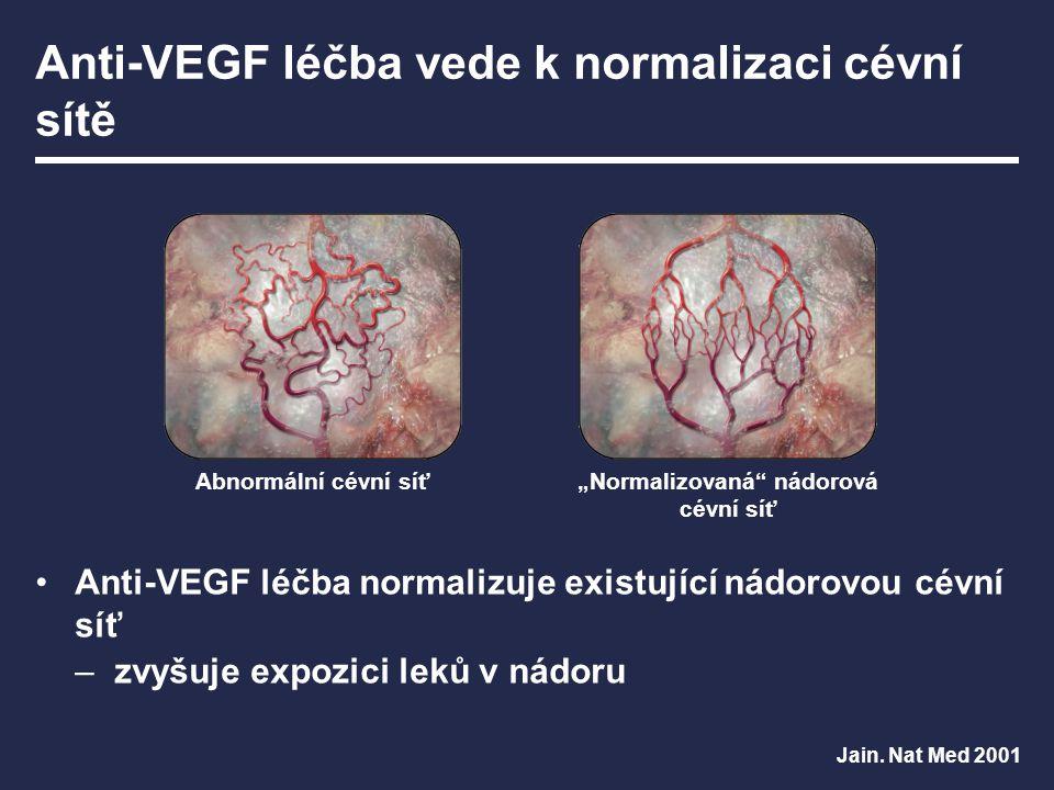 Anti-VEGF léčba vede k normalizaci cévní sítě