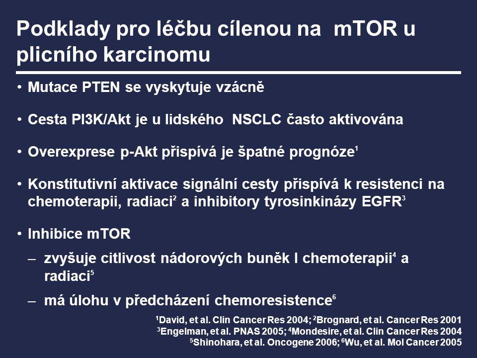 Podklady pro léčbu cílenou na mTOR u plicního karcinomu