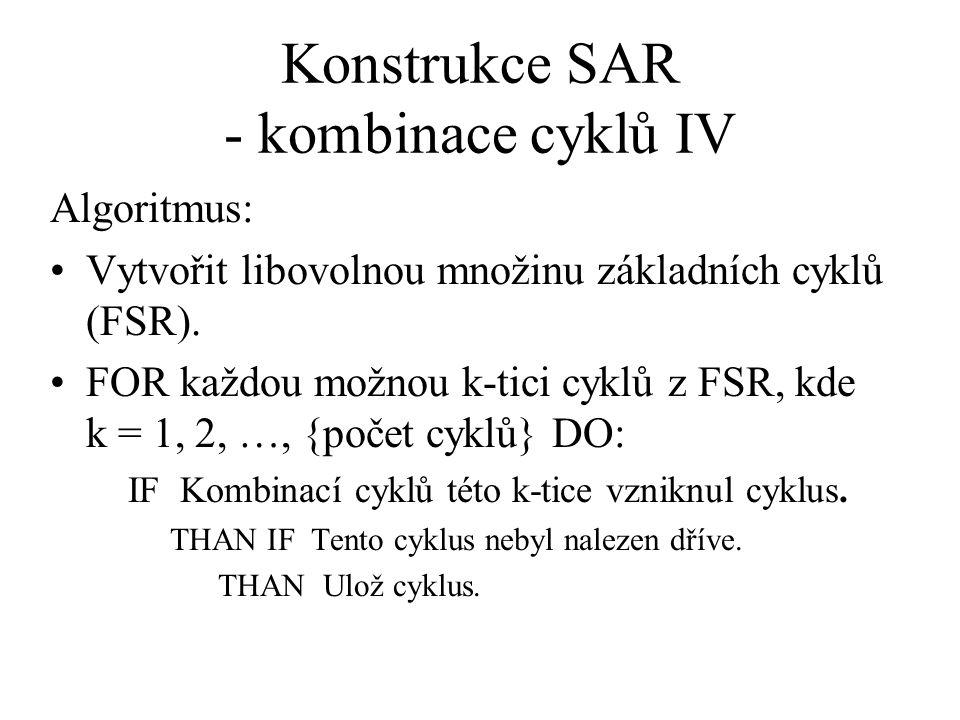 Konstrukce SAR - kombinace cyklů IV