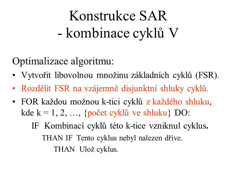 Konstrukce SAR - kombinace cyklů V