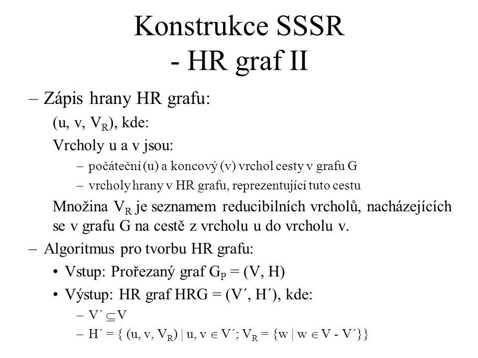 Konstrukce SSSR - HR graf II