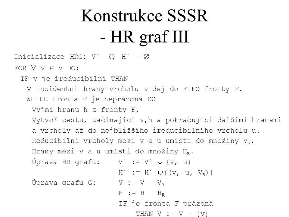 Konstrukce SSSR - HR graf III