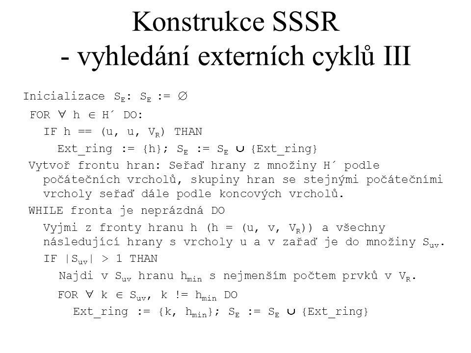 Konstrukce SSSR - vyhledání externích cyklů III