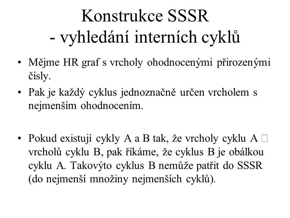 Konstrukce SSSR - vyhledání interních cyklů