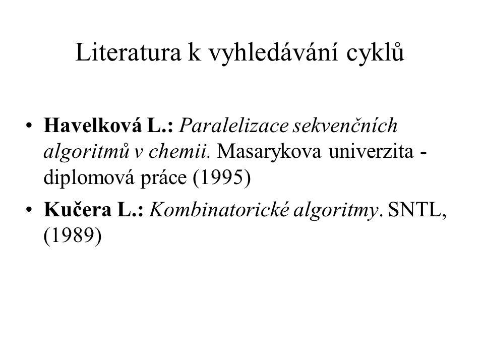 Literatura k vyhledávání cyklů