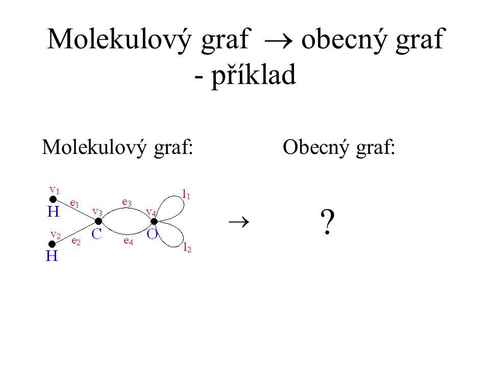 Molekulový graf ® obecný graf - příklad