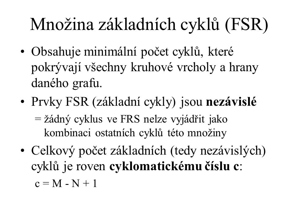 Množina základních cyklů (FSR)