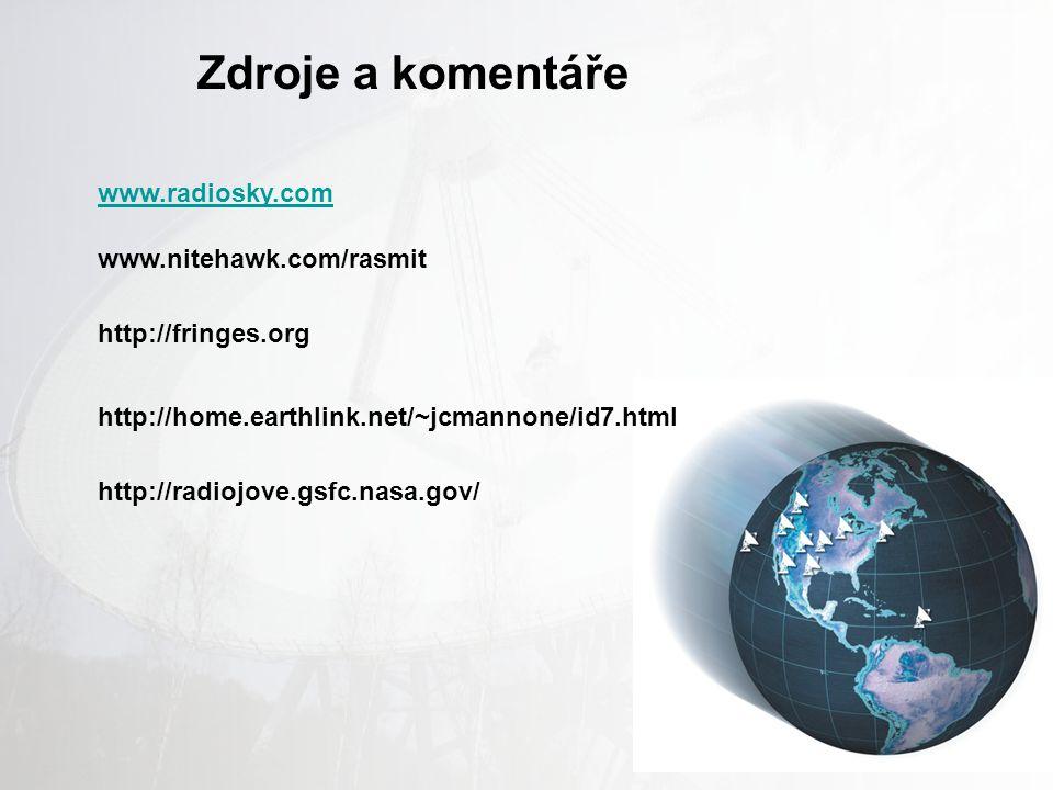Zdroje a komentáře www.radiosky.com www.nitehawk.com/rasmit