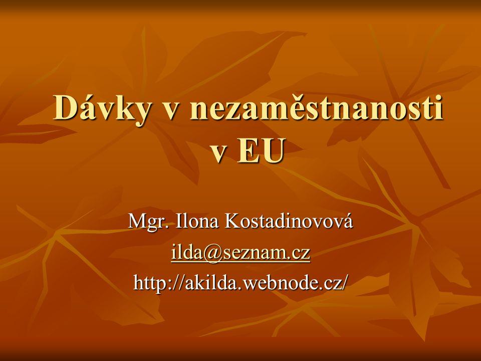 Dávky v nezaměstnanosti v EU