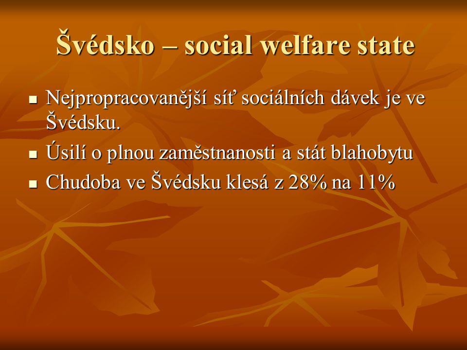 Švédsko – social welfare state