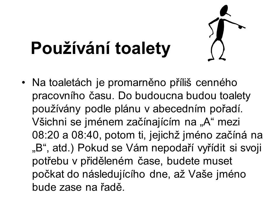 Používání toalety