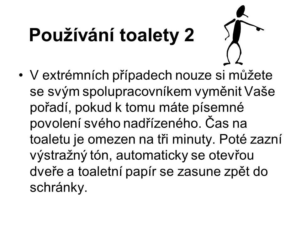 Používání toalety 2