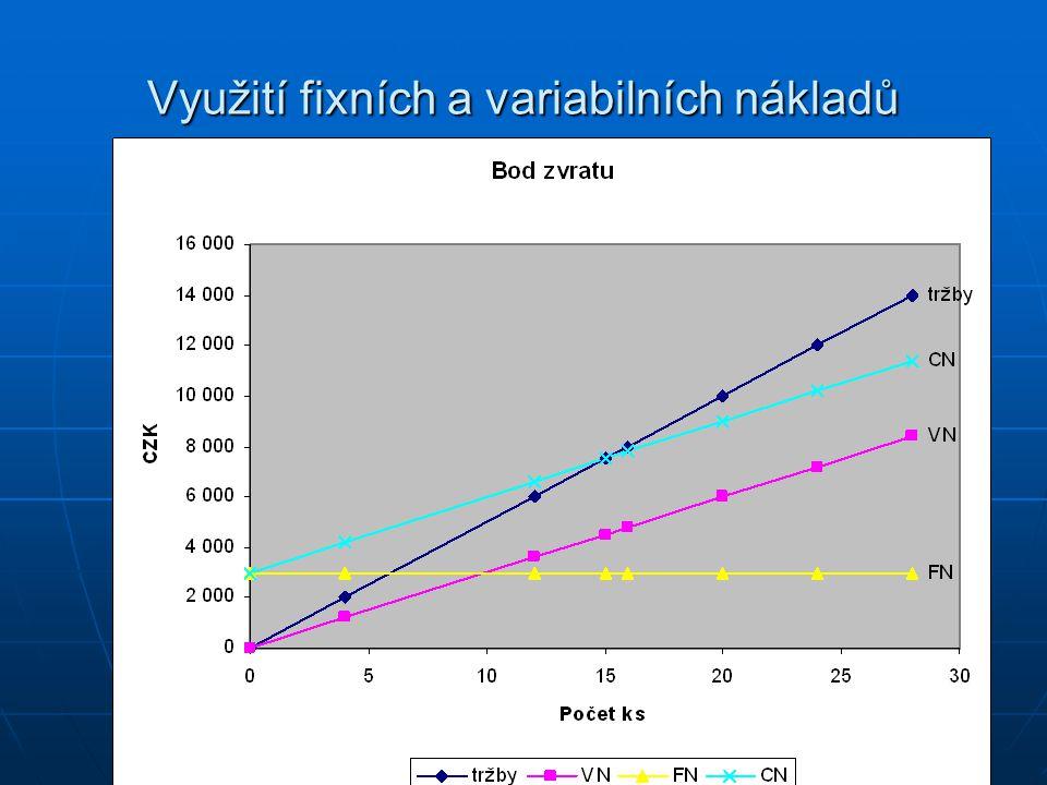 Využití fixních a variabilních nákladů