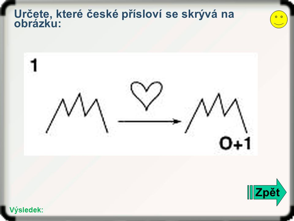 Určete, které české přísloví se skrývá na obrázku: