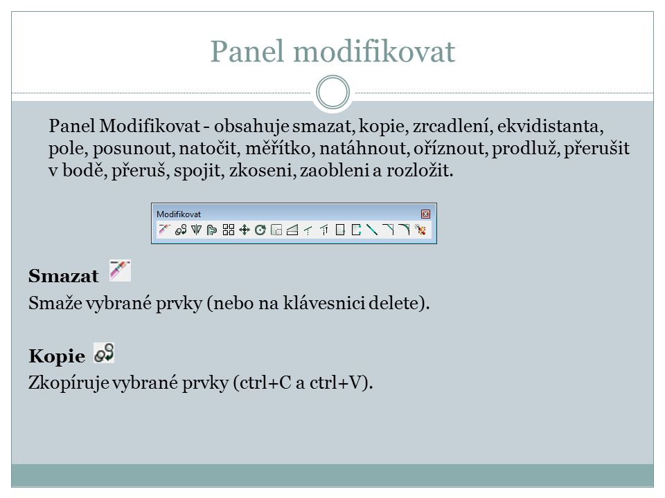 Panel modifikovat