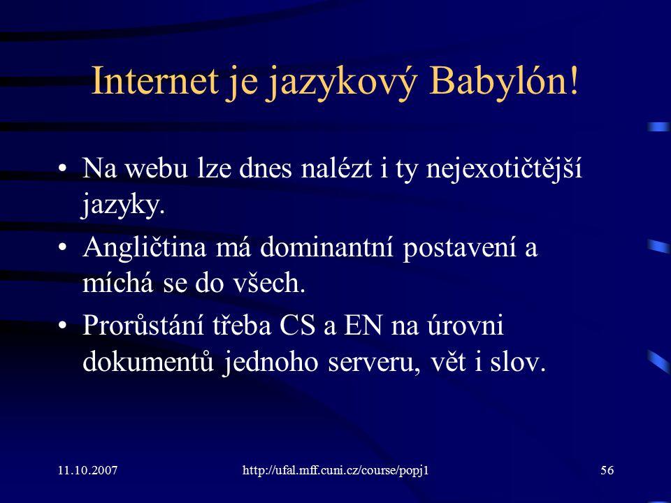 Internet je jazykový Babylón!